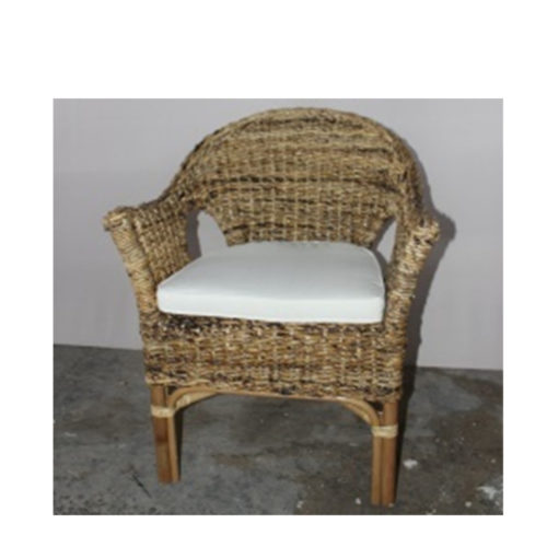 Only Pabion Arm Chair Banana Natural With Cushion Ecrue Ia 03  DPI-009
