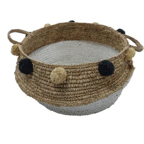 Basket With Pompom  HEB-016