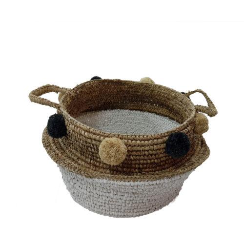 Basket With Pompom  HEB-017