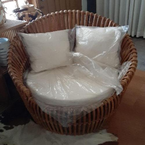 Round Bean Lounge Chair With Cushion  HOF-016