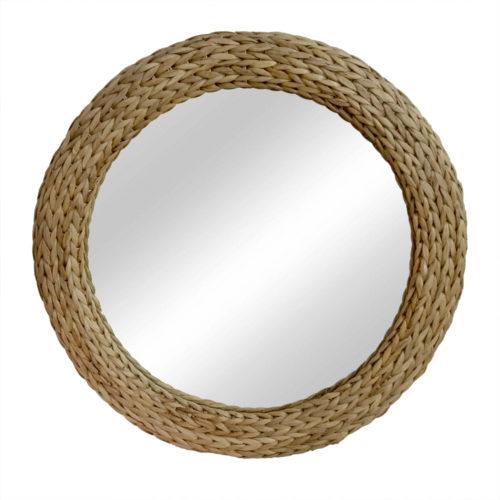Round Mirror Waterhycinth With 14Cm Width  HOF-025
