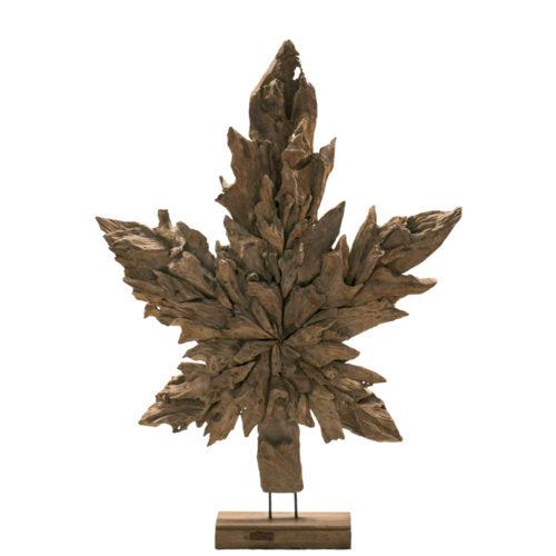 Leaf Star Teak Root Statue  IMP-003