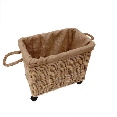 Basket Set Of 2 Kubu Soft W/ Rope And Jute Lining Fabric W/ Custer  JTB-007