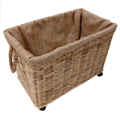 Basket Set Of 2 Kubu Soft W/ Rope And Jute Lining Fabric W/ Custer  JTB-008