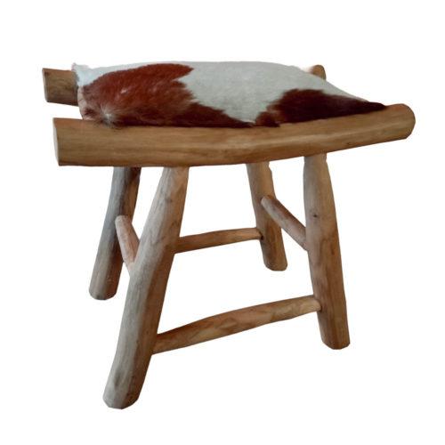 Otoman Stool (More Brown Goat Leather )  PGI-005