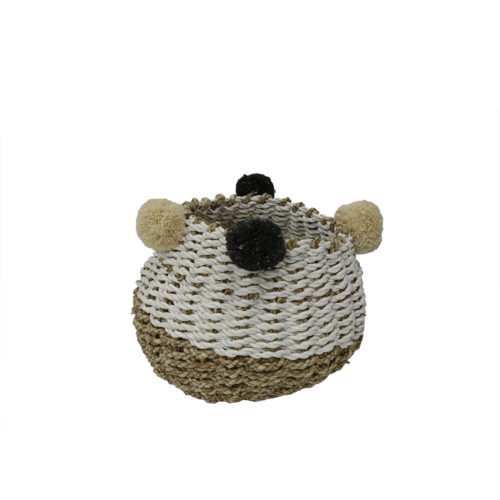Gentong palit Set Of 3 Pompom Putih Natural S  HEB-028
